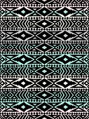 foto of aztec  - Aztec tribal mexican seamless pattern - JPG