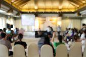 pic of training room  - blur workshop in auditoriem room at training camp - JPG