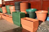 Plastic Flower Pots And Holders