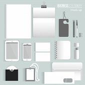 stock photo of letterhead  - Vector clean Blank corporate identity set of Stationery Branding - JPG