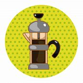 stock photo of kettles  - Coffee Kettle Theme Elements - JPG