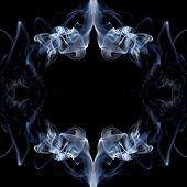 stock photo of smoking  - Frame made of smoke on black background - JPG