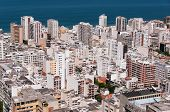stock photo of ipanema  - Ipanema District Aerial View, Rio de Janeiro, Brazil. ** Note: Soft Focus at 100%, best at smaller sizes - JPG