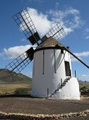 image of canary-islands  - A historic wind mill in Tiscamanita on the Spanish island Fuerteventura one of the Canary islands in the Atlantic Ocean - JPG