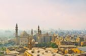 picture of smog  - The medieval Cairo became mysterious in the hard evening smog Egypt - JPG