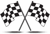 image of sidecar  - Two crossed checkered flags - JPG