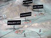 Detail Of 3D Model Showing Boulder City, Henderson & Las Vegas