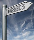 Consequences Road Sign Clipping Path