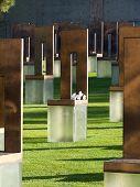 Memorial Chair W/ Flowers @ Okc National Memorial
