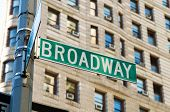 image of broadway  - Famous broadway street signs in downtown New York - JPG