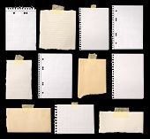 stock photo of old post office  - Pieces of paper ready for making notes - JPG