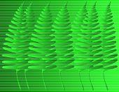 Bosque de hojas diseño vectorial con colores fácilmente cambiables