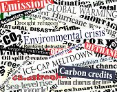 pic of current affairs  - Editable vector illustration of newspaper headlines on an environmental theme - JPG
