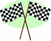 Race Flags Crossed.Ai