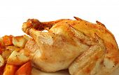 image of roast chicken  - Roast chicken with baked vegetables - JPG