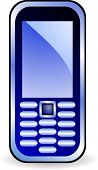 Icon of mobile phone. Vector illustration.