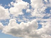 Blue Sky With Clouds. poster