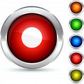 botón detallada de Rec. Ilustración del vector.