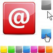 Arroba glossy vibrant web icon.