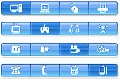 technology website navigation iconography set