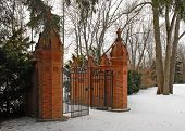 Gate In Winter
