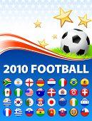 2010 World Soccer Football Match Original Vector Illustration
