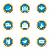 Coat Of Mail Icons Set. Flat Set Of 9 Coat Of Mail Vector Icons For Web Isolated On White Background poster