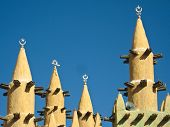 Mud Brick Mosque In Saba (mali).