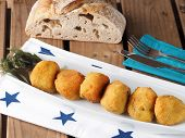 Irish Moss Croquettes  Croquettes Made With Potato And Irish Moss Seaweed. A Nutritious Vegan Starte poster