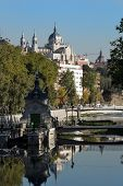 Royal Palace And River In Madrid