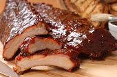Bbq Ribs With Toasted Bread