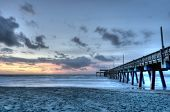 HDR of Tybee Island Beach