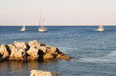 Yacht at the sea