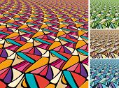 Set of Abstract backgrounds. Square aspect ratio