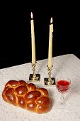Shabbat Candles Lighted