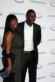 .LOS ANGELES - OCT 14:  Idris Elba arriving at the Clinton Foundation