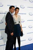 .LOS ANGELES - OCT 14:  Cash Warren, Jessica Alba arriving at the Clinton Foundation