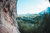 A Climber Climbs The Rock. poster