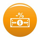 Pay Tax Icon. Simple Illustration Of Pay Tax Vector Icon For Any Design Orange poster
