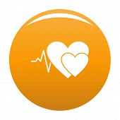 Cardiology Icon. Simple Illustration Of Cardiology Vector Icon For Any Design Orange poster