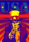 Uncle Sam With Usa