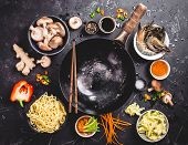 Asian Food Cooking Concept poster