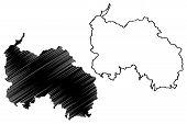 Republic Of South Ossetia - The State Of Alania (republic Of Georgia, Tskhinvali Region) Map Vector  poster