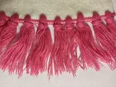 Scarf Made Of White And Pink White Threads. Knitwear On A White Background. Empty Space For Text. So poster