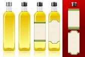 Quatro garrafas de azeite