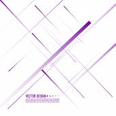 Abstract Background With Straight Intersecting Diagonal Purple Lines. Vector Illustration In Minimal poster
