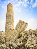 Old Roman Ruins Column