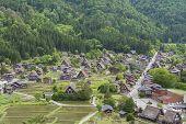Historical Village Of Shirakawa-go. Shirakawa-go Is One Of Japans Unesco World Heritage Sites Locat poster