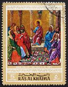 Postage stamp Ras al-Khaimah 1970 Jesus in the Temple, Painting