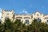 Famous White Castle Hluboka Nad Vltavou